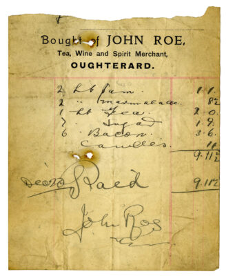 Selection of Old Receipts from Oughterard Businesses