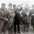 Jack Cleggett, Harold McCullagh, Fr Hyland P.P, Michael O'Flynn, Canon McCullagh taken in the late 1930's