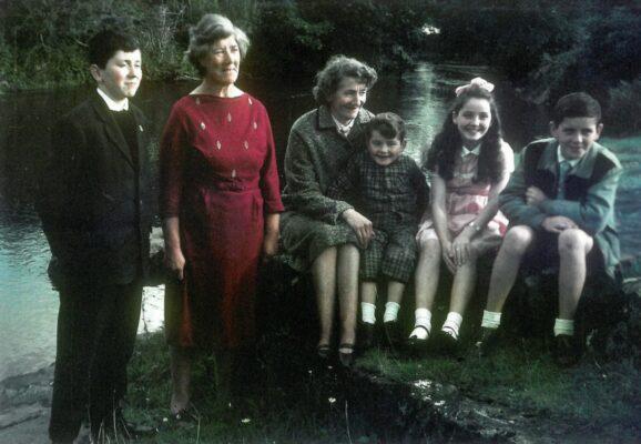 Gerard his aunt Kathleen Gannon (Marcella's sister) Marcella, Martin, Mary & Stephen Kinneavy (1960's