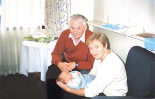 Tony & Nettie with one of their grandchildren