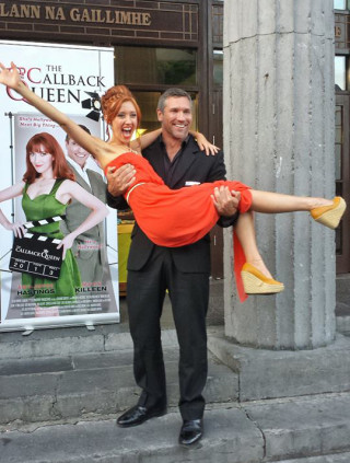 Amy-Joyce Hastings and Mark Killeen at the world premiere of The Callback Queen at the 25th Galway Film Fleadh.