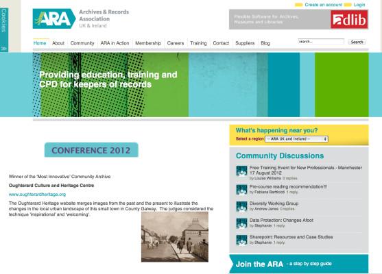 A.R.A website screenshot