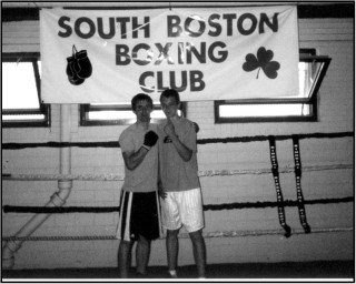 Aaron Casey and Thomas Lee in South Boston Gym