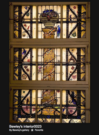 Harry Clarke stained glass, Bewley's, Dublin