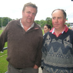 Noel Gibbons and Martin Joyce - former Oughterard greats.