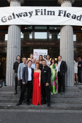 The cast and crew of The Callback Queen at the world premiere at the 25th Galway Film Fleadh.