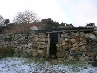 The remains of the house in which John Geoghegan (grandfather of Jackie Geoghegan) lived and reared his family.