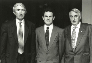 L to R:  Pat O'Connor (Secretary), Gerry Gibbons (Treasurer) & Frank O'Halloran (Chairman)