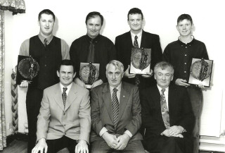 Back Row L to R :  	Fergus Gillespie ( Intermediate Player ) Kevin Clancy (Clubman )