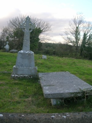 O Toole's headstone and slab