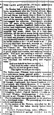 Connaught Advertiser Nov 19th 1879. CLICK to View