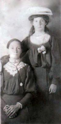 Maria Naughton (née Geoghegan) with Mary Kate Walsh (née Naughton)