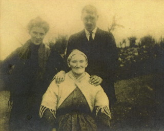 Honor Mons (seated) with two of her childern  Katherine & Michael C 1930