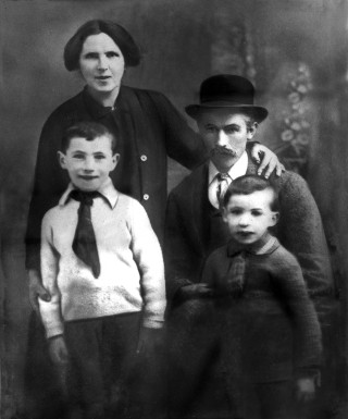 Mary and James Healy with their youngest sons Mattie and Christy