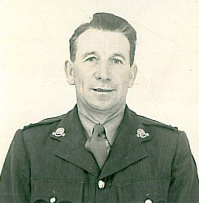Lieutenant Paddy Darcy taken in 1945