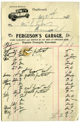 Vintage shop receipts