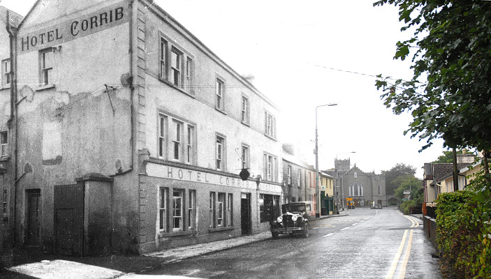 Oughterard then and now